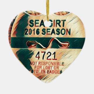 Sea Girt Beach Badge Christmas Ornament