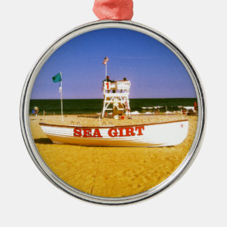 Sea Girt Lifeguard Boat Christmas Ornament