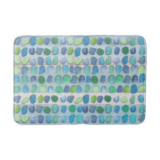 Sea Glass Beach Driftwood Bath Mat