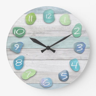 Sea Glass Beach Driftwood Clocks