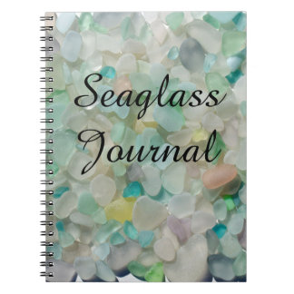 Sea glass, beach glass art photo Journal notebook