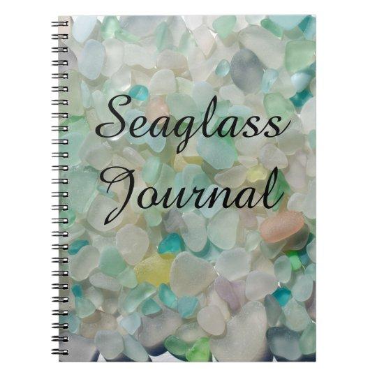 Sea glass, beach glass art photo Journal notebook