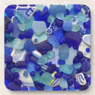 Sea glass, beach glass, blue aqua photo coasters