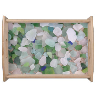 Sea glass beach house serving tray