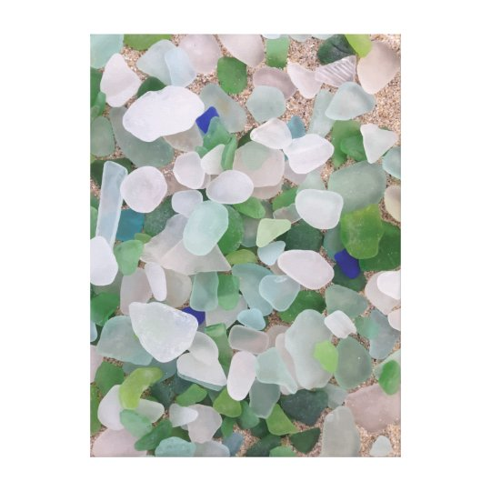 Sea glass beach poster canvas print