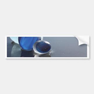 Sea Glass Blues Bumper Sticker