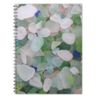 Sea glass from the ocean notebook