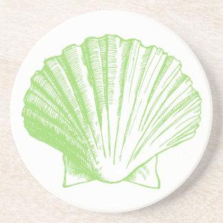 Sea Glass Green Seashell Coaster