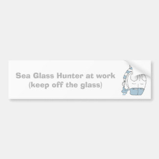 Sea Glass Hunter at work... Bumper Sticker