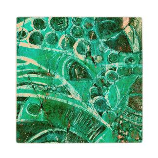 Sea Glass I Wood Coaster