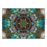 Sea Glass Mandala Greeting Cards