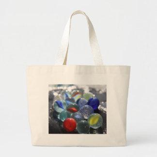 Sea Glass Marbles Canvas Bag
