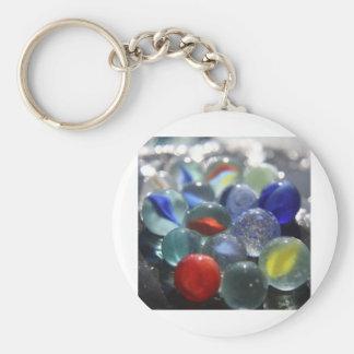 Sea Glass Marbles Keychain