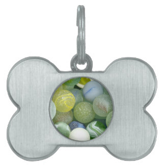Sea Glass Marbles Pet Tag