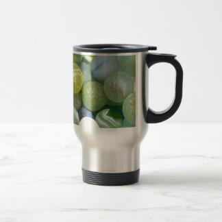 Sea Glass Marbles Travel Mug