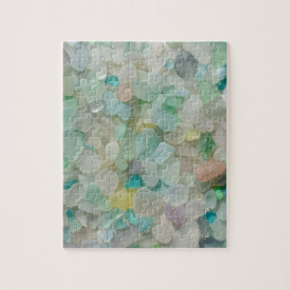 Sea glass pastels photo with rare colors jigsaw puzzle