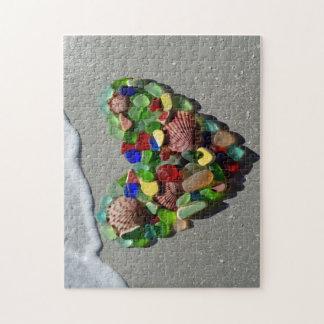 Sea glass rare bright colors photo puzzles