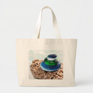 Sea Glass stack Tote Bags