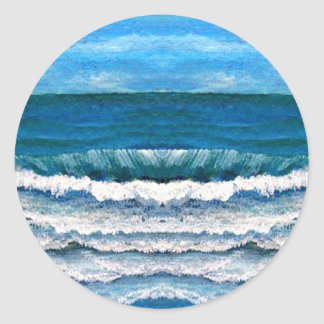 Sea Glory Ocean Waves Painting Art Products Sticker