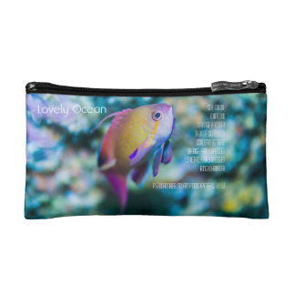 Sea goldie, colorful cute fish makeup bag
