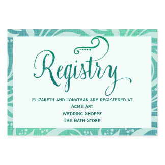 Sea Grass Beach Wedding Registry Card Pack Of Chubby Business Cards