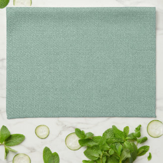 Sea Green Chenille Tea Towel