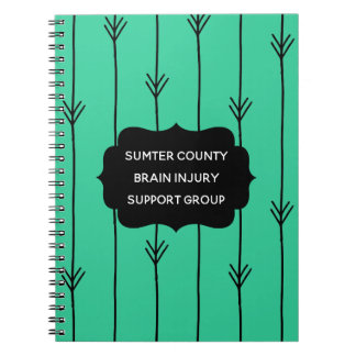 Sea Green Custom Brain Injury Support Group Spiral Notebook