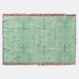 Sea Green Damask Print Throw Blanket