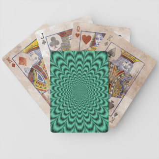 Sea Green Explosion Bicycle Playing Cards