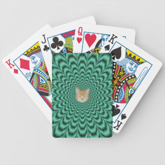 Sea Green Explosion + Cat Bicycle Playing Cards