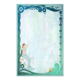 Sea Green Fantasy Personalised Stationery