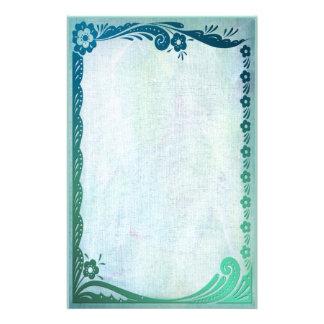 Sea Green Fantasy Stationery Paper
