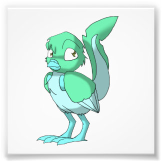 Sea Green/Ice Blue Reptilian Bird Photograph