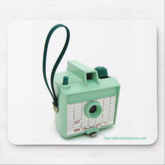 Sea Green Imperial Savoy Vintage Camera Mousepad