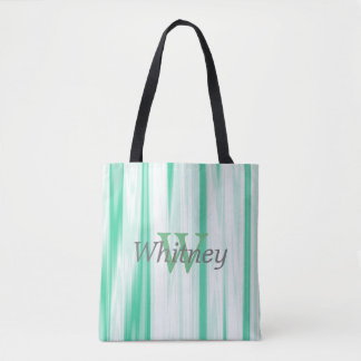 Sea Green Monogram Tote