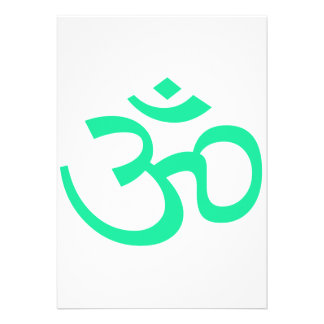 Sea Green Om or Aum ॐ png Announcements