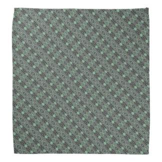 Sea Green Patterned Stripes Bandana