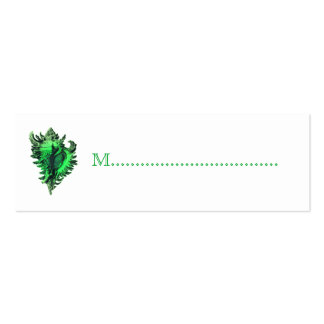 Sea Green Sea Shell Reception Table Seating Cards Pack Of Skinny Business Cards