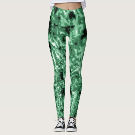 Sea Green Sea Urchin Texture Leggings