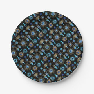 Sea Green Siphonophorae Paper Plate