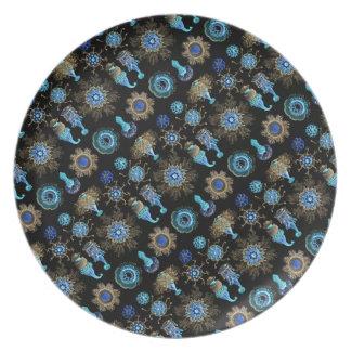 Sea Green Siphonophorae Plates