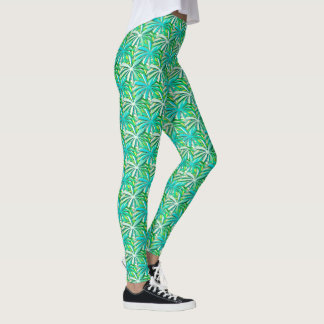 Sea green turquoise leggings