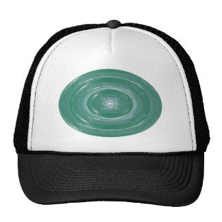 Sea Green Waves : Ovals n Rounds Mesh Hat