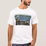 Sea Gulls and Sailboats Along the Waterfront T-Shirt