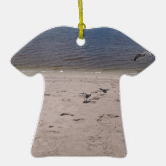 Sea Gulls Double-Sided T-Shirt Ceramic Christmas Ornament