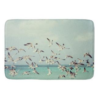 Sea Gulls In Flight Bath Mat