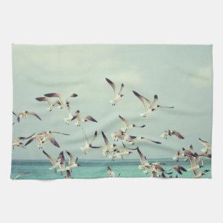 Sea Gulls In Flight Kitchen Towel