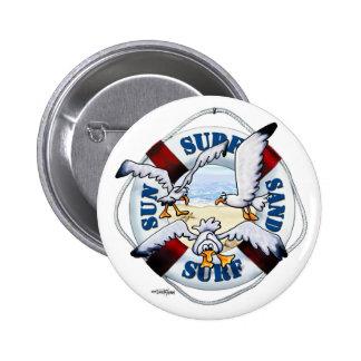Sea Gulls Shore thing beach button