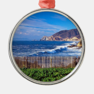 Sea Half Moon Bay California Christmas Ornament
