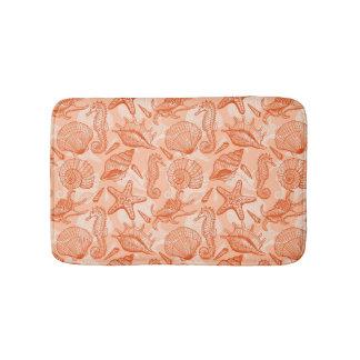 Sea hand drawn pattern bath mat
